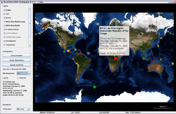WorldWind Java 0.5 - Flat Worlds