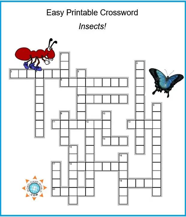 word crossword puzzles: Easy Printable Crossword Puzzles