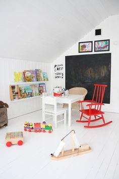 Attic Playroom for the kids to go with the adult playroom in the basement :))