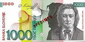 Bankovec za 1000 SIT