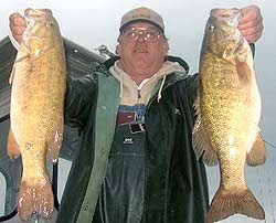 Lake Texoma fishing report from GW Chisholm of Trails Guide Service says the smallmouth bass bite is on!