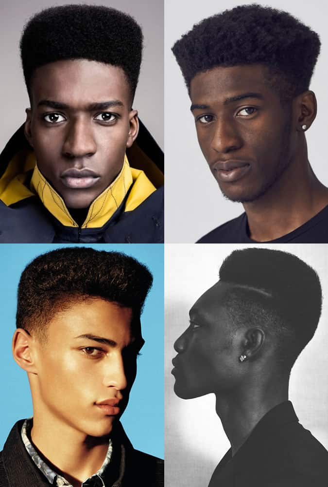 Men's Shaped Afro Hairstyles & Modern High Tops