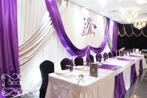 Lavender and Silver Wedding Theme   purple and white