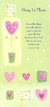 Thinking of You Greeting Card   Hang in There