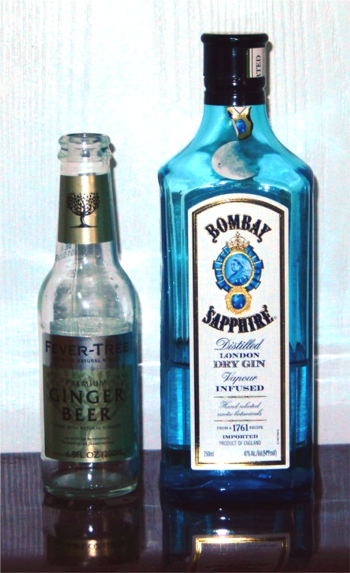 Ginger beer and gin