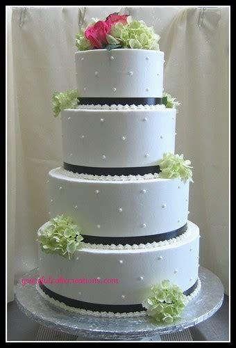 Wedding Cake with Swiss Dots   Grace Tari   Flickr