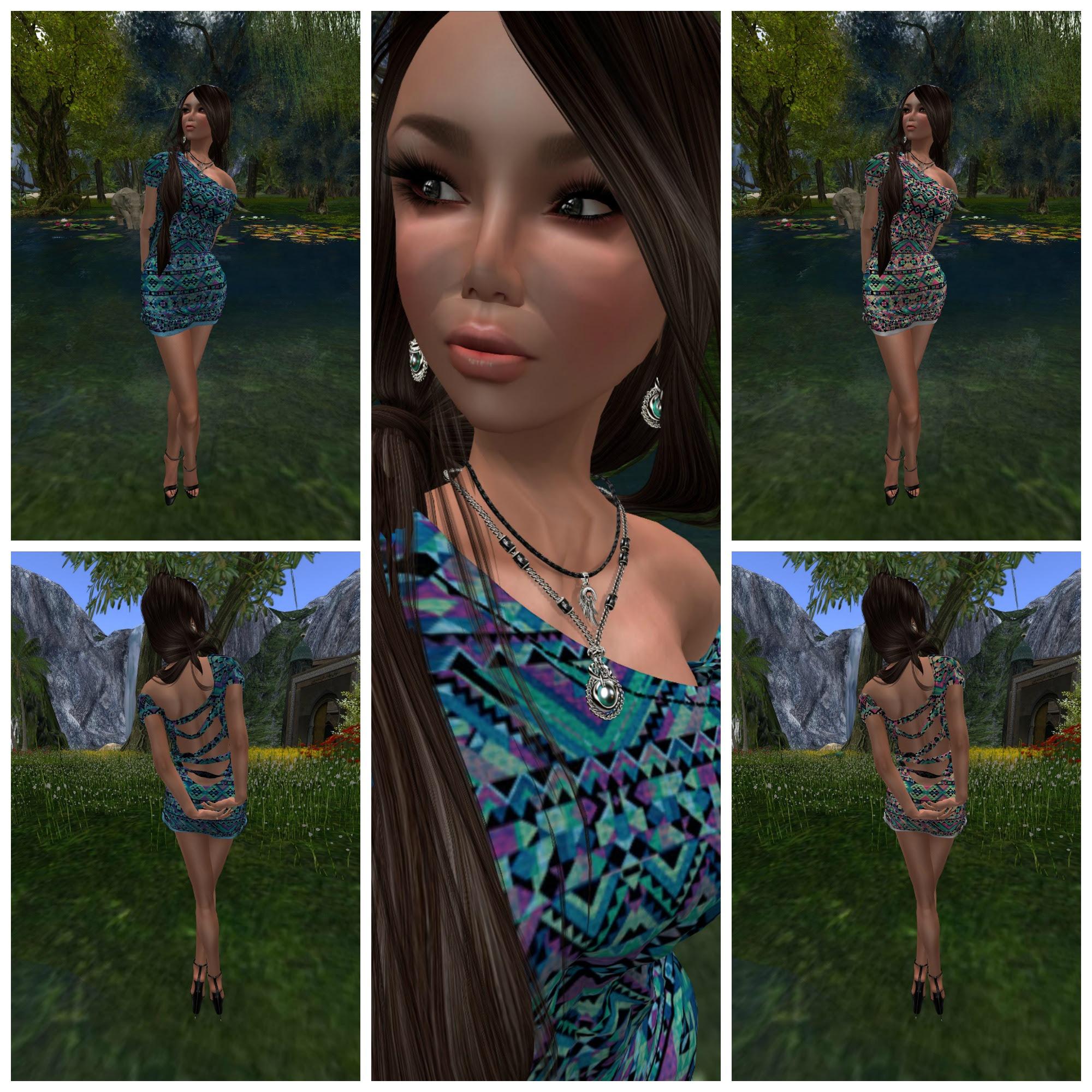 Eyelure Chiffon Dress feat crystal line