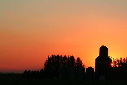 Blais Grain Elevator at Sunset II by gina.blank