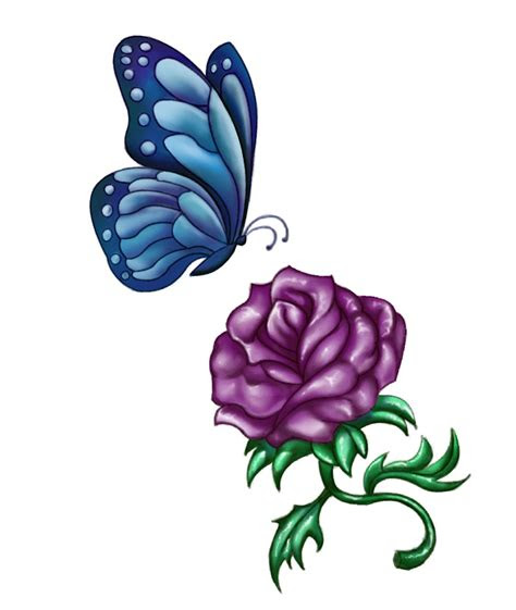 purple rose tattoo designs ideas