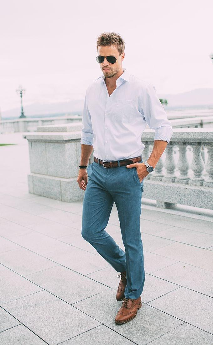 men white shirt outfits15 ways to wear white button down