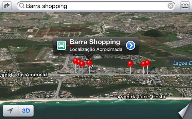 Novo Mapas da Apple: ainda sem informações de trânsito (Foto: TechTudo)