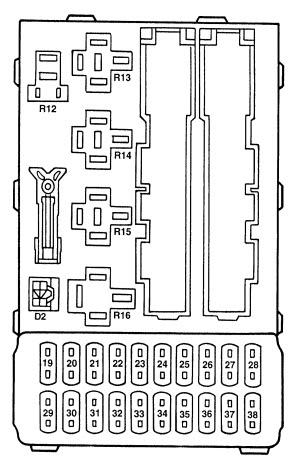 Ford Contour 1996 2000 Fuse Box Diagram Auto Genius