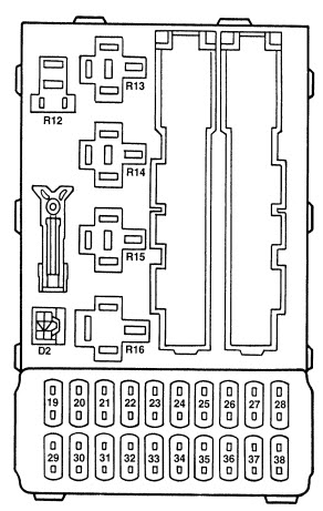 1995 Ford Contour Fuse Box Diagram - Wiring Diagram
