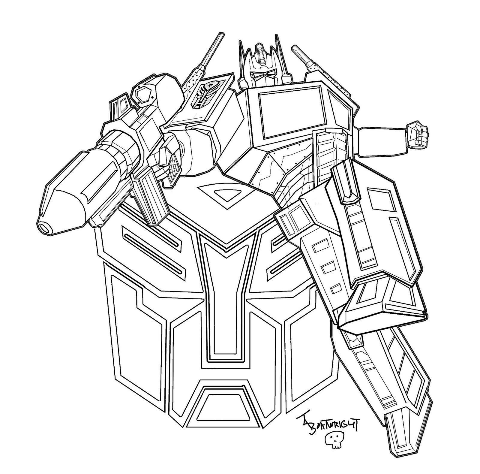 optimus prime transformers dessins  colorier disney dessins  colorier