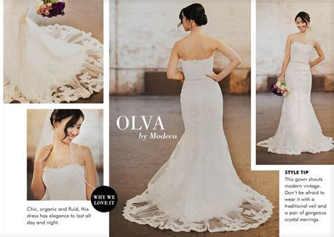 Olva dress by Modeca   Modeca Real Brides   Wedding