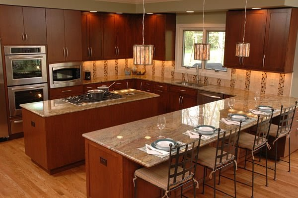 Best Home Decoration World Class: U Shaped Kitchen Layout With Island