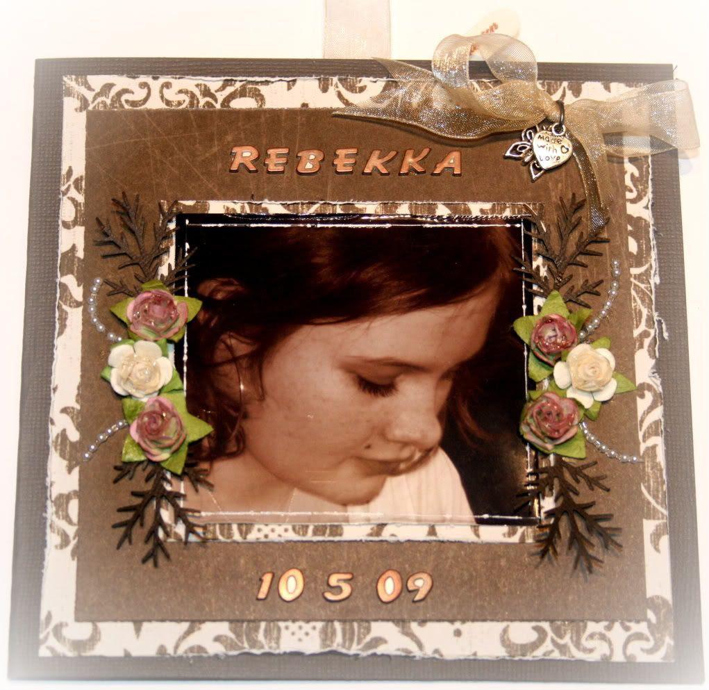 Fremsiden av kortet til Rebekka