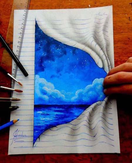 Απίστευτη 3D τέχνη σε χαρτί από έναν 17χρονο (6)
