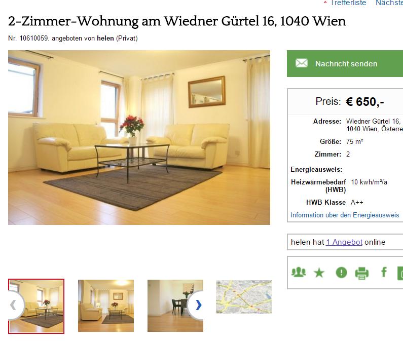 Wohnungsbetrug.blogspot.com: 2-Zimmer-Wohnung Am Wiedner