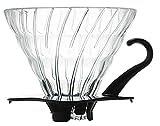 ハリオ V60耐熱ガラス透過ドリッパー02 ブラック 1~4杯用 VDG-02B