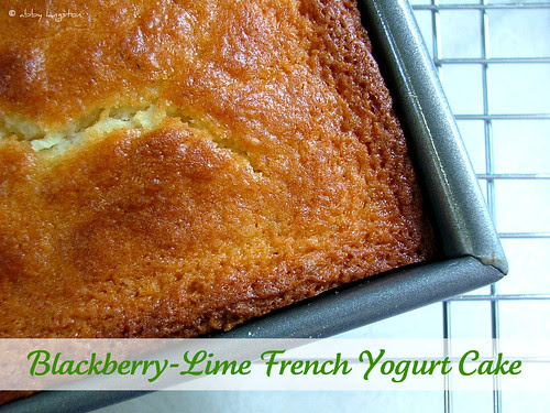 Blackberry Lime French Yogurt Cake