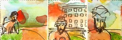 Lars Vilks watercolors