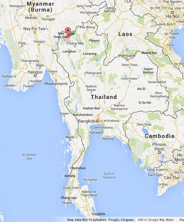Map Of Thailand Pai Maps Of The World