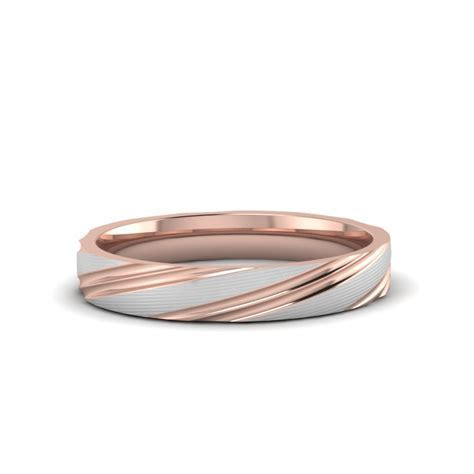 Personalized Gay Wedding Rings In 14K Rose Gold