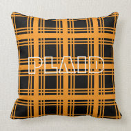 Tartan (Orange) Pillow throwpillow
