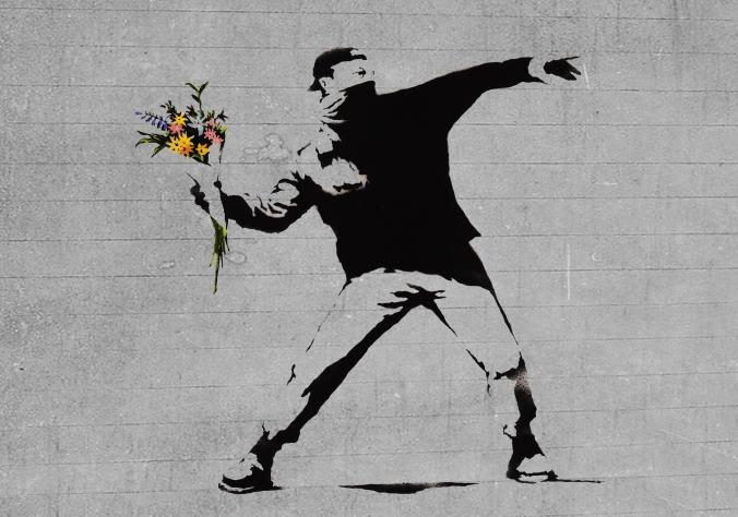 grafite flor banksy