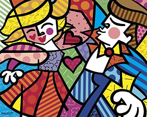 Swing  Abstract Poster Print by Romero Britto (Choose Size of Print)