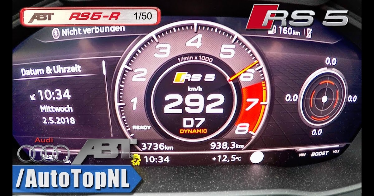 Full Detail Audi Rs5 Top Speed In India 530hp Audi Rs5 Abt 2 9 Tfsi 0 292km H Acceleration Top Speed By Autotopnl