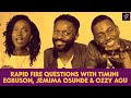 The Stars Of #MTVShugaNaija, Timini Egbuson, Jemima Osunde & Ozzy Agu Answer Rapid Fire Questions