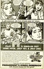 comics ad - Kings Dominion - Wash Post 95-06-25