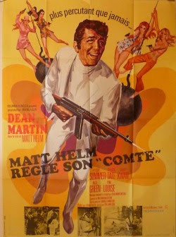 The Wrecking Crew French movie poster (1969). Art by Robert McGinnis