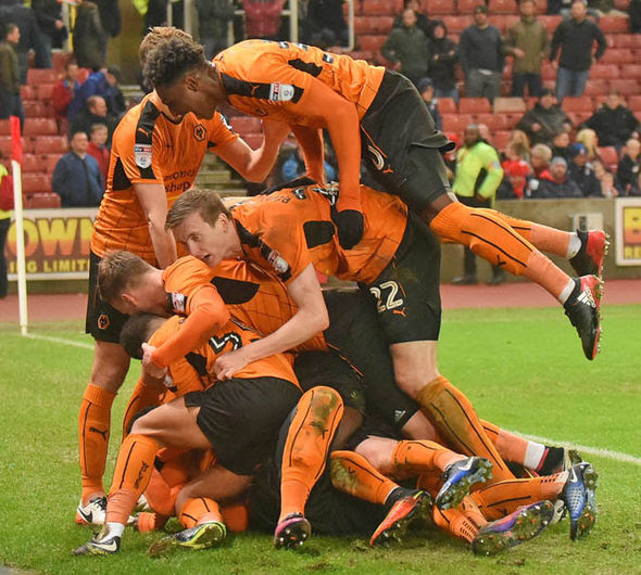 Wolves stunned Stoke with a 2-0 win