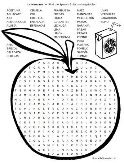 1000+ images about Spanish word searches on Pinterest | Spanish ...