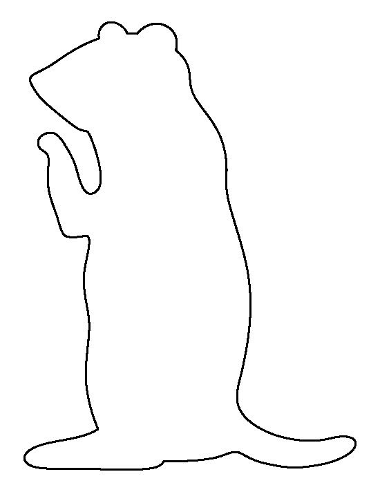 Prairie Dog pattern. Use the printable outline for crafts ...