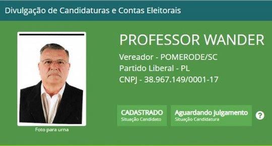 Professor Wander | Foto: TSE/Divulgação