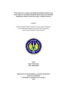 Contoh Skripsi Otomotif Contoh Soal Dan Materi Pelajaran 8