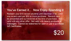 CPS-1090 - salon coupon card