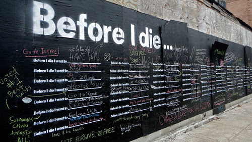 Before I Die house wall filled (courtesy of Candy Chang)