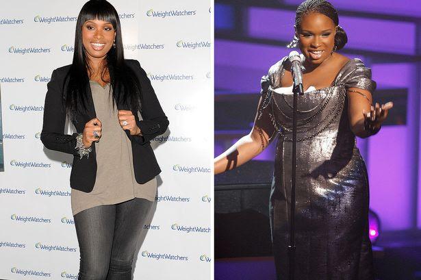 Jennifer Hudson in April 2010 and September 2009