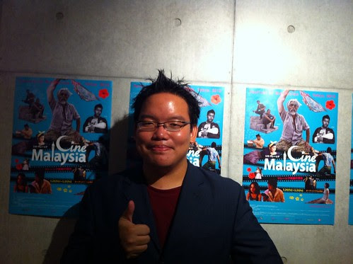 Standing before the CineMalaysia posters