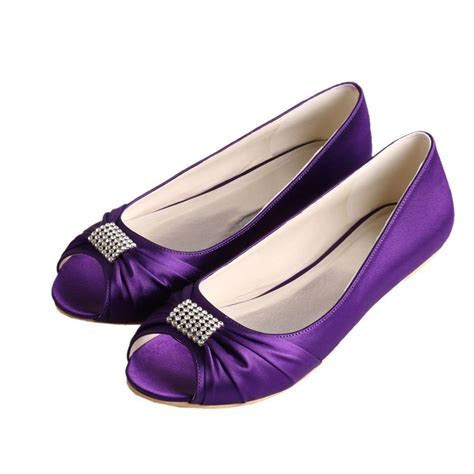 Wawoo®Women's Slip On Evening Prom Peep Toe Ballet Flats