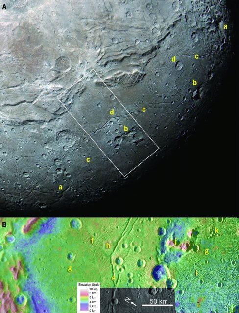 Hemisferio sur de Caronte (sciencemag.org/NASA).
