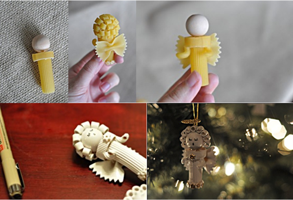 DIY Christmas Ornaments With Pasta