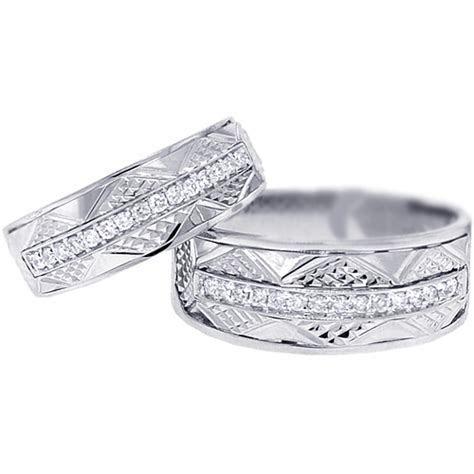 Diamond Vintage Wedding Bands Set for Him Her 18K Gold 0.33ct