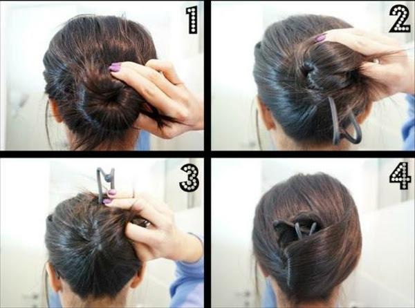 Einfache Frisuren Haarspangen