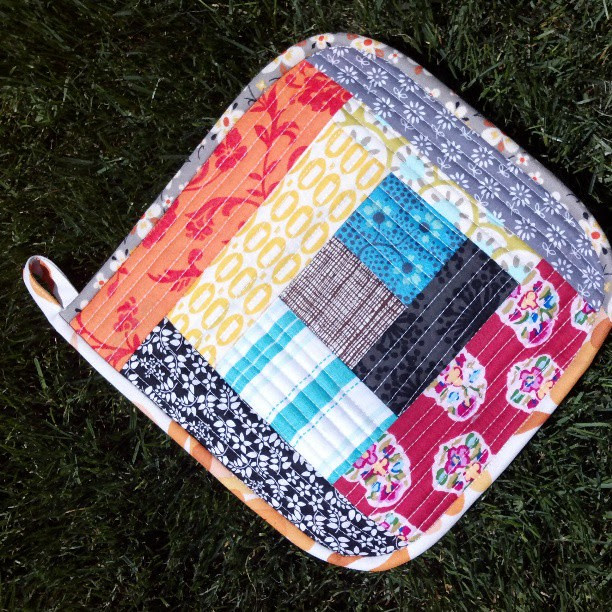 My completed potholder <3 thank you @becraftsy & @tinkerfrog this has been on my list for years but the class nudged me